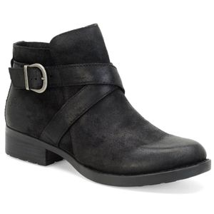 Born Trinculo Chelsea Ankle Booties Suede Leather
